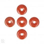 Rode Jaspis Donut Hanger ± 30 mm