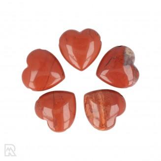 Rode Jaspis Doorboorde Hart Hanger