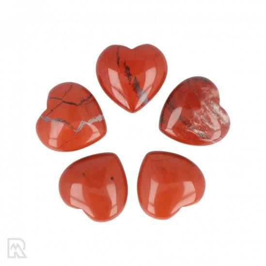 Rode Jaspis Hart ± 3 cm