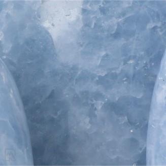 Blauwe Calciet Sculpturen