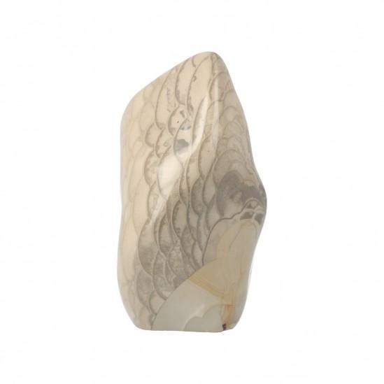 Visschub Jaspis Sculptuur