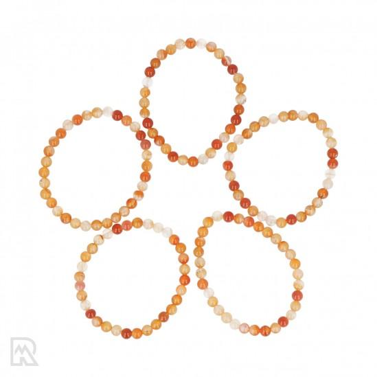 Oranje Agaat Armband