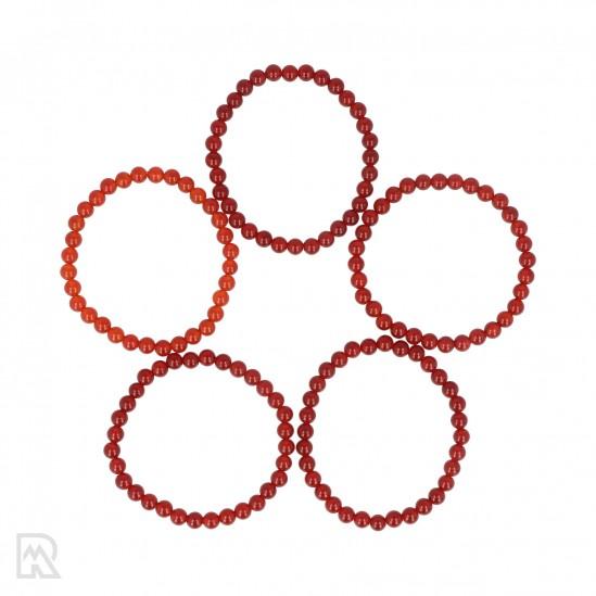 Rode Agaat Armband